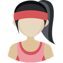 athletic, Sports And Competition, Girl, Avatar, people, Basketball Player, Sporty, woman Black icon