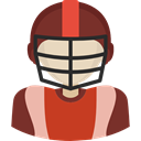 American Football Player, people, Sports And Competition, Avatar, athletic, Sporty SaddleBrown icon