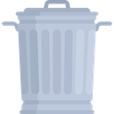 Waste Bin, trash can, Garbage Can, Trash, trash bin, Tools And Utensils, Garbage LightSteelBlue icon