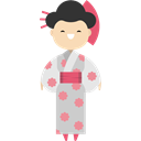 japan, japanese, Ethnic, traditional, people, Culture Black icon