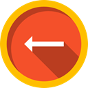 Music And Multimedia, Arrows, Multimedia Option, previous, directional, Back, Direction Tomato icon
