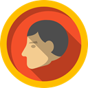 person, profile, Music And Multimedia, Avatar, people, head, user Gold icon