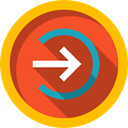 right arrow, interface, Enter, login, Arrows, Multimedia, right, Arrow, web, button Firebrick icon