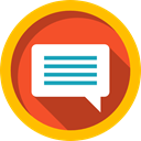 speech bubble, Multimedia, Communication, Conversation, Chat, Music And Multimedia Gold icon