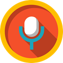 Voice Recording, interface, Microphone, technology, vintage, sound, radio Tomato icon