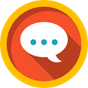 Chat, Conversation, Music And Multimedia, Communication, speech bubble, Multimedia Gold icon