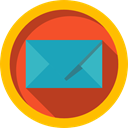 Email, interface, Multimedia, envelope, Message, mail, mails, envelopes Gold icon