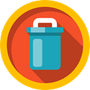 tin, recycle, Tools And Utensils, Can, Garbage, Trash Gold icon
