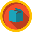 Shipping, Box, cargo, packaging, storage, package, Tools And Utensils, interface Gold icon