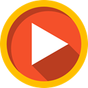 Play button, Arrows, Multimedia, Music And Multimedia, video player, music player, movie, interface, Multimedia Option Tomato icon