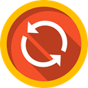 Reload, Multimedia Option, Multimedia, Orientation, interface, Arrows, Music And Multimedia, refresh, Direction, Circular Arrow Firebrick icon