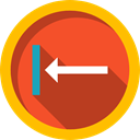 Arrows, Music And Multimedia, directional, Back, Direction, previous, Multimedia Option Firebrick icon