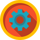 configuration, settings, cogwheel, Tools And Utensils, Gear Gold icon