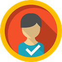 user, Avatar, interface, social network, profile, social media, people Gold icon