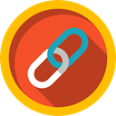 Tools And Utensils, linked, Multimedia, Chain, Link, Connection, Music And Multimedia Firebrick icon