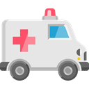 medical, emergency, Ambulance, transport, transportation, vehicle, Automobile Gainsboro icon