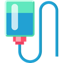 hanging, liquid, medical, medicine, transfusion, Bag, Blood, Medical Icons LightSeaGreen icon