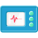 hospital, Stats, Cardiogram, Health Clinic, medical, Electrocardiogram LightSeaGreen icon