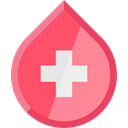 Blood Drop, medical, Blood, Health Care, transfusion, donation LightCoral icon
