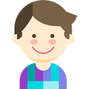 young, Avatar, Man, Boy, user, people, profile BlanchedAlmond icon