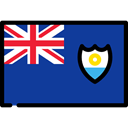 Anguilla, flags, province, flag, Region MidnightBlue icon