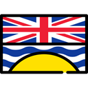Country, Nation, flag, British Columbia, flags Black icon
