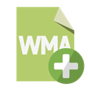 Add, File, Format, Wma DarkKhaki icon