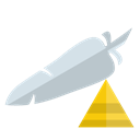 pyramid, Apache, Server Black icon