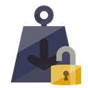 open, Lock, weight DarkSlateGray icon