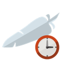 Server, Clock, Apache Black icon