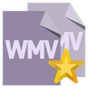 File, Wmv, star, Format LightSlateGray icon
