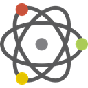 Atomic, physics, Electron, science, nuclear, education DimGray icon