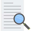 education, search, magnifying glass, research, study, zoom, Tools And Utensils WhiteSmoke icon