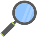 study, research, education, zoom, Tools And Utensils, search, magnifying glass Black icon