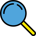 detective, zoom, magnifying glass, Loupe, Tools And Utensils, search CornflowerBlue icon