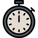 miscellaneous, time, Tools And Utensils, interface, timer, Chronometer, Wait, stopwatch Gainsboro icon