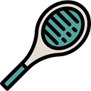 Sportive, racket, tennis, sports, Ball, Sports And Competition Black icon