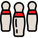 Fun, leisure, sports, Bowling Pins, Game, Sports And Competition Gainsboro icon
