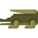 Animal, Wild Life, Crocodile, Animals, zoo, Animal Kingdom DarkOliveGreen icon