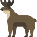 Animal, zoo, Animal Kingdom, elk, Wild Life, Animals DarkOliveGreen icon
