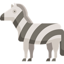 Animals, Zebra, Animal Kingdom, Animal, Wild Life, zoo Black icon