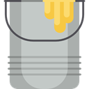 paint, Graphic Tool, interface, Graphics Editor, Bucket, Tools And Utensils Silver icon