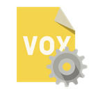vox, File, Gear, Format SandyBrown icon
