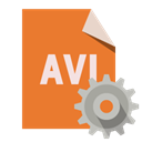 Avi, File, Gear, Format Chocolate icon