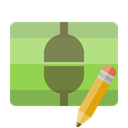 pencil, Connect, vertical YellowGreen icon