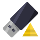 Pen, pyramid, drive DarkSlateGray icon