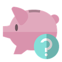 Bank, help, piggy RosyBrown icon