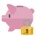 Bank, Lock, open, piggy RosyBrown icon