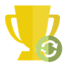 trophy, refresh Gold icon