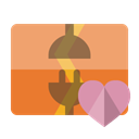 Heart, vertical, Disconnect SandyBrown icon